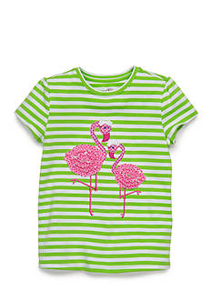 J. Khaki Flamingo Tee Girls 4-6x