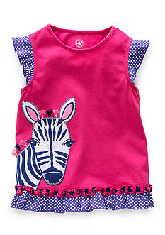 J. Khaki Zebra Tee Girls 4-6x