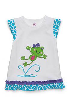 J. Khaki Frog Tee Girls 4-6x