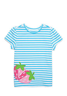 J. Khaki Strawberry Stripe Tee Girls 4-6x