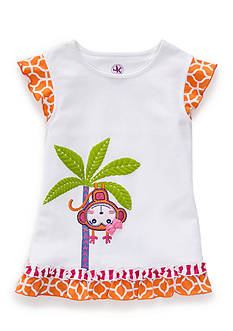 J. Khaki Monkey Tee Girls 4-6x