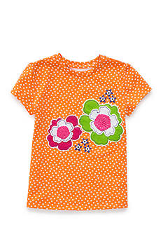 J. Khaki Flower Tee Girls 4-6x