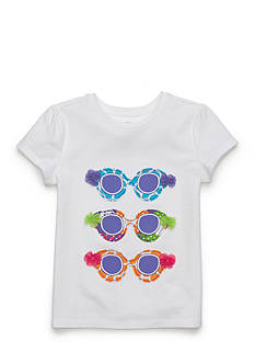 J. Khaki Sunglass Tee Girls 4-6x