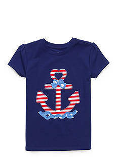 J. Khaki Anchor Applique Top Girls 4-6x