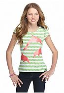 J Khaki™ Dolphin Print High Low Top Girls