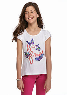 J Khaki™ Butterfly Print High Low Top Girls 7-16