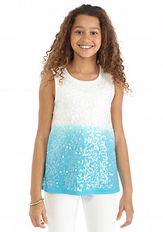J Khaki™ Sequin Ombre Tank Top Girls 7-16