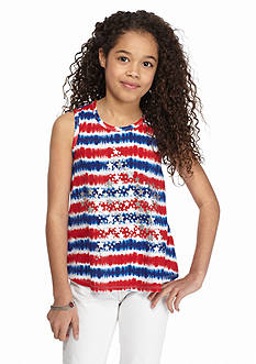 J Khaki™ Tie Dye American Star Tank Top Girls 7-16