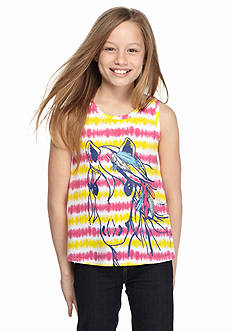 J Khaki™ Horse Printed Tie Dye Tank Top Girls 7-16