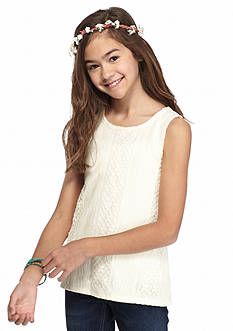 J Khaki™ Lace Overlay Tank Top Girls 7-16