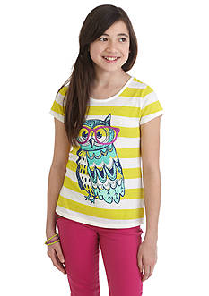 J. Khaki Owl Stripe Top Girls 7-16