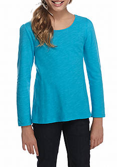 J. Khaki Long Sleeve Core Tee Shirt Girls 7-16