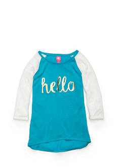 J. Khaki 'Hello' Baseball Top Girls 7-16