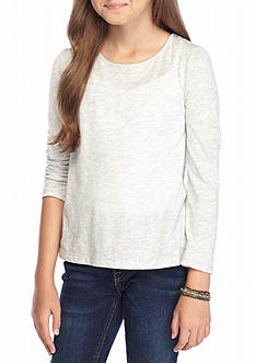 J. Khaki Long Sleeve Core Tee Girls 7-16
