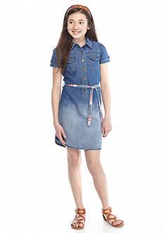 J. Khaki Denim Dress Girls 7-16