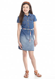 J Khaki™ Denim Belted Dress Girls 7-16