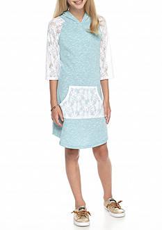 J. Khaki Crochet Dress Girls 7-16