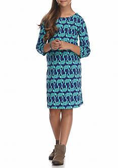 J. Khaki Elephant Dress Girls 7-16