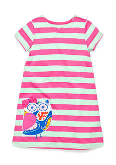 J Khaki™ Striped Owl Dress Girls 4-6x