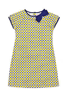 J Khaki™ Geometric Print Dress Girls 4-6x