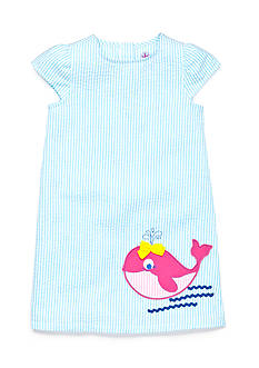 J Khaki™ Seersucker Whale Dress Girls 4-6x