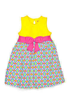 J Khaki™ Sleeveless Geo Print Challis Dress Girls 4-6x