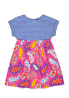 J Khaki™ Stripe to Paisley Print Dress Girls 4-6x