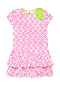 J Khaki™ Trellis Print Dress Girls 4-6x