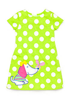 J Khaki™ Dotted Dog Dress Girls 4-6x