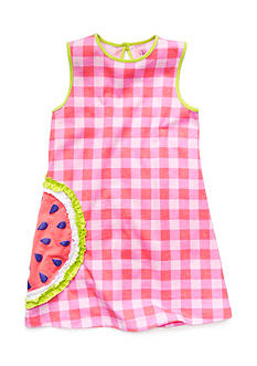 J Khaki™ Sleeveless Watermelon Gingham Dress Girls 4-6x