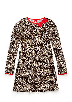 J. Khaki Animal Print Dress Girls 4-6X