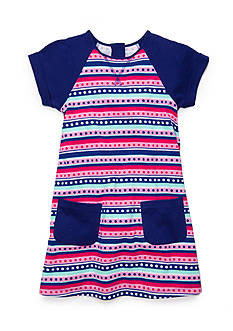 J. Khaki Stripe Knit Dress Girls 4-6x