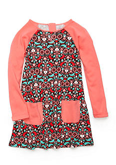 J. Khaki Heart Acorn Print Dress Girls 4-6X