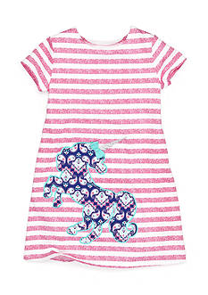 J. Khaki Unicorn Stripe Dress Girls 4-6x