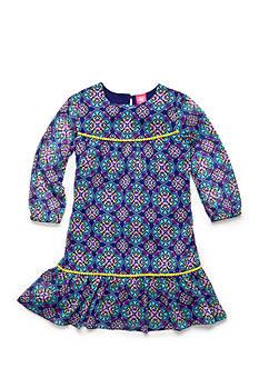 J. Khaki Medallion Print Dress Girls 4-6x