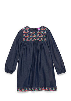 J. Khaki Denim and Embroidery Dress Girls 4-6X