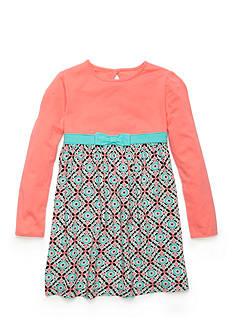 J. Khaki Medallion Knit Woven Dress Girls 4-6x