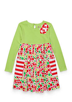J. Khaki Knit Dress Girls 4-6x