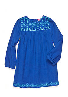 J. Khaki Triangle Trim Corduroy Dress Girls 4-6X
