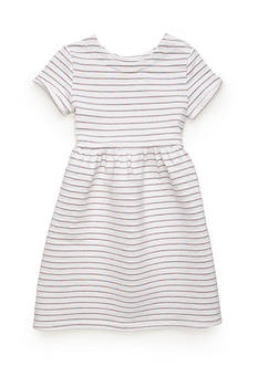 J. Khaki Glitter Stripe Dress Girls 4-6x