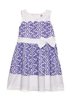 J. Khaki Scallop Scroll Dress Girls 4-6x