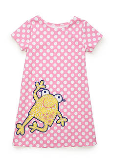 J. Khaki Frog Dot Dress Girls 4-6x