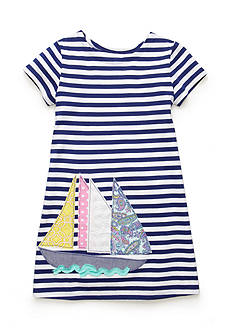 J. Khaki Sailboat Stripe Dress Girls 4-6x