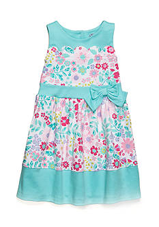 J. Khaki Scallop Floral Dress Girls 4-6x