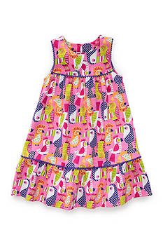 J. Khaki Pretty Bird Dress Girls 4-6x
