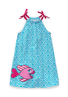 J. Khaki Bubbly Fish Dress Girls 4-6x