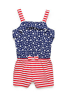 J. Khaki® Stars and Stripes Romper Girls 4-6x