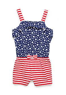 J. Khaki Stars and Stripes Romper Girls 4-6x