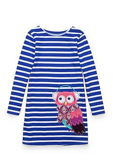 J. Khaki Stripe Owl Dress Girls 4-6x