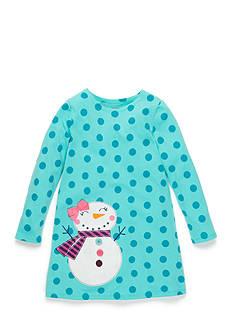 J. Khaki Polka Dot Snowgirl Dress Girls 4-6X